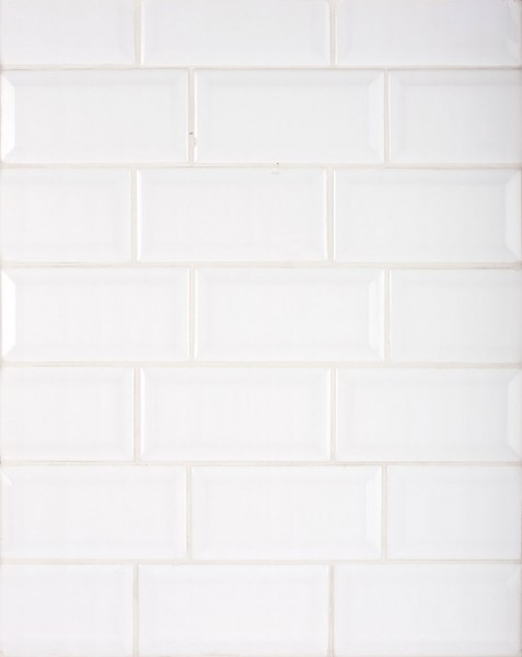 Blanco Biselado Kitchen Wall Tiles - www.kitchenwalltilesdirect.com