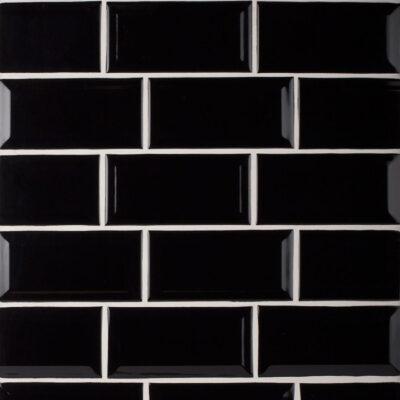 Negro Biselado Kitchen Wall Tiles - www.kitchentilesdirect.com