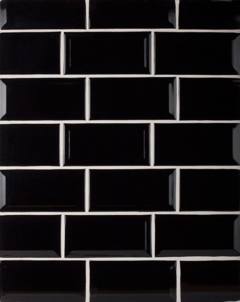 Negro Biselado Kitchen Wall Tiles - www.kitchentilesdirect.com