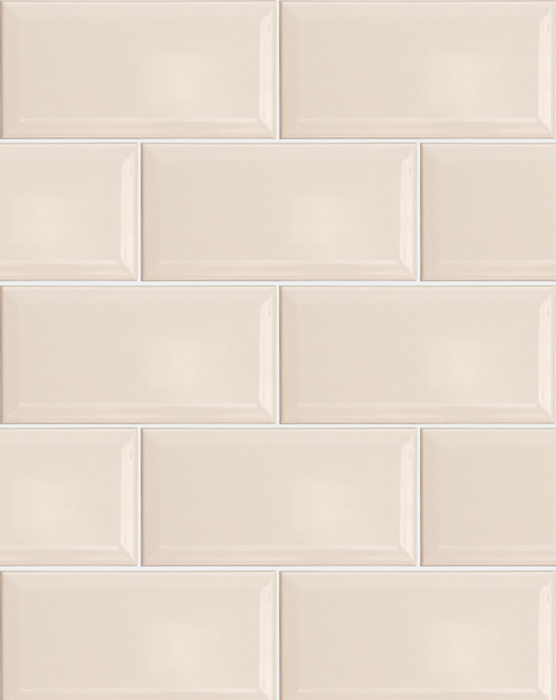 Metro cream wall tile kitchen tiles direct - Kitchen without wall tiles ...
