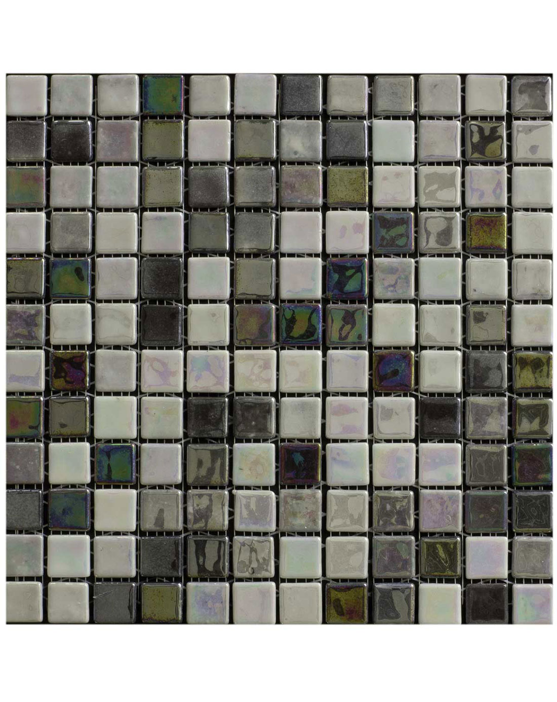 Acquaris Grey Mosaic Wall Tiles Kitchen Tiles Direct