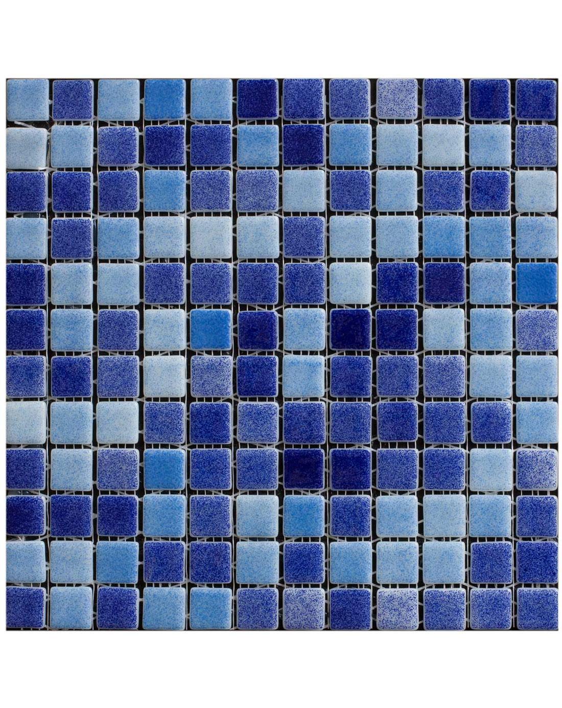 Blue Pool Mix Mosaic Wall Tiles - Kitchen Tiles Direct