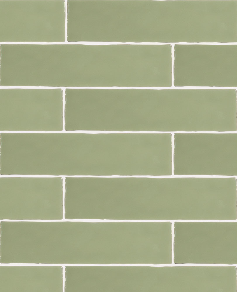 Sage Green Tiles Kitchen